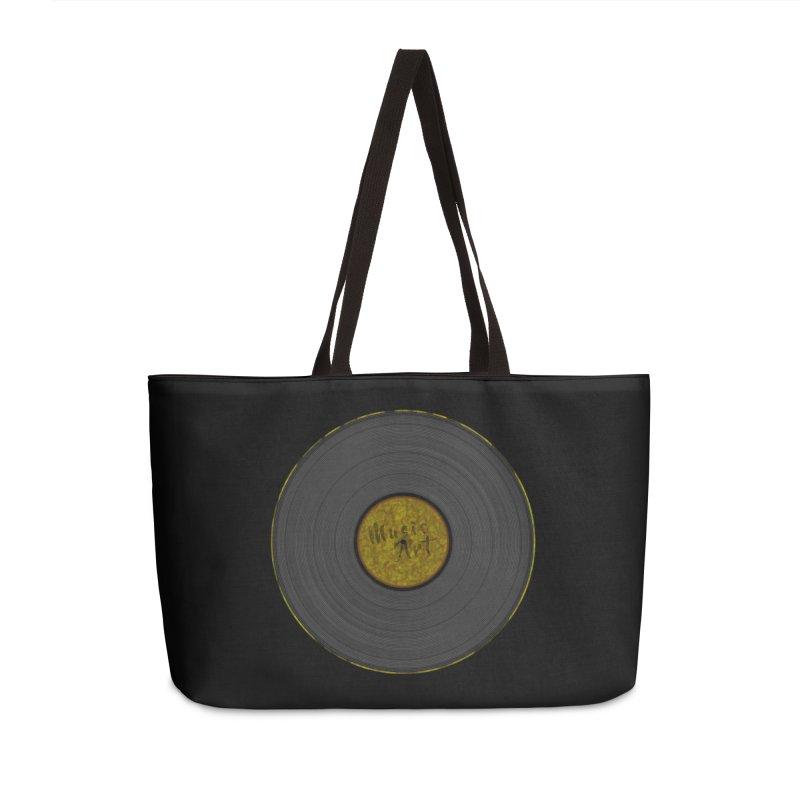 Vinyl Art Accessories Weekender Bag Bag by Sinazz's Artist Shop
