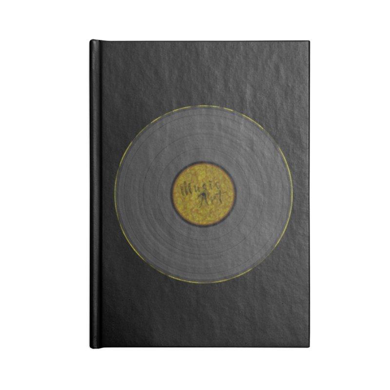 Vinyl Art Accessories Lined Journal Notebook by Sinazz's Artist Shop