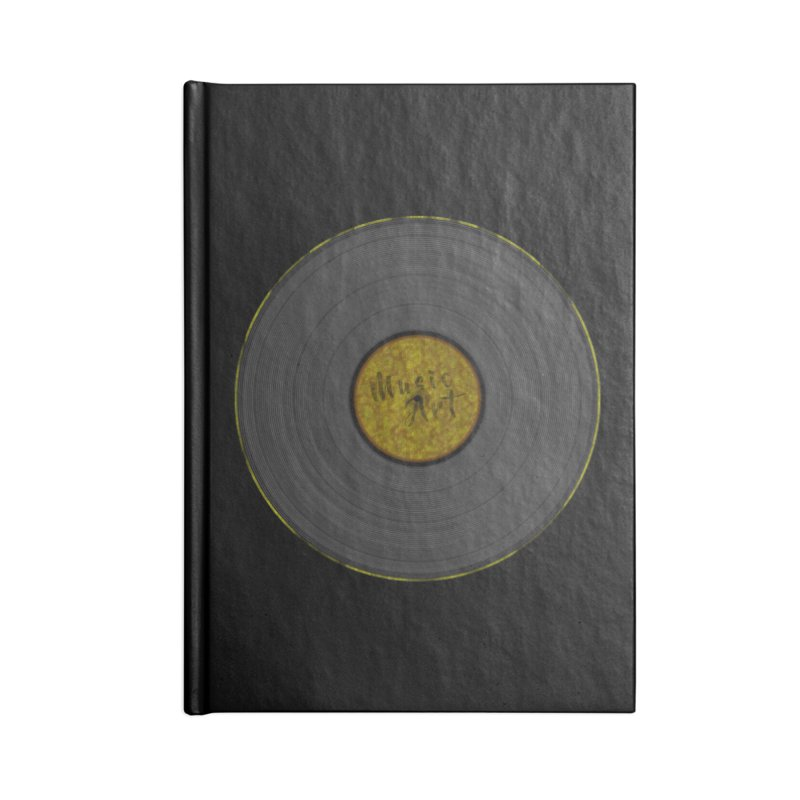 Vinyl Art Accessories Notebook by Sinazz's Artist Shop