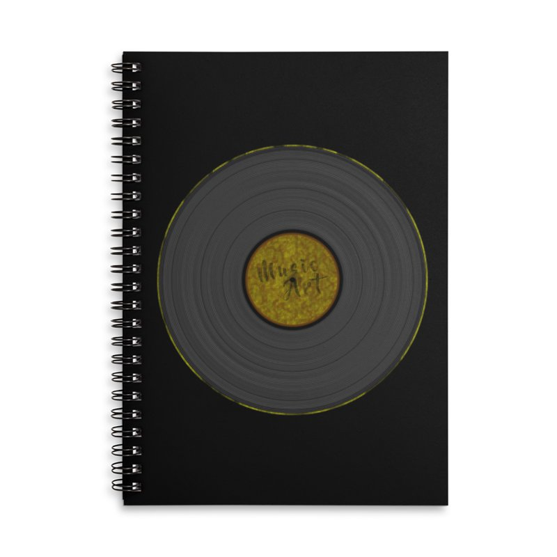 Vinyl Art Accessories Lined Spiral Notebook by Sinazz's Artist Shop