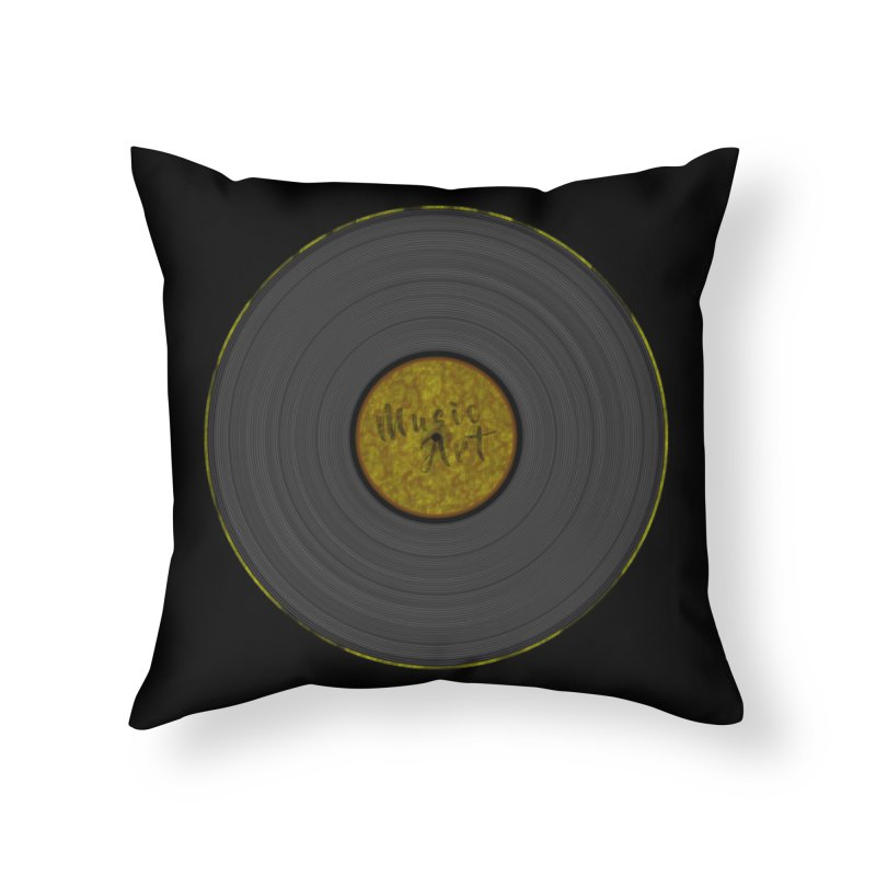 Vinyl Art Home Throw Pillow by Sinazz's Artist Shop