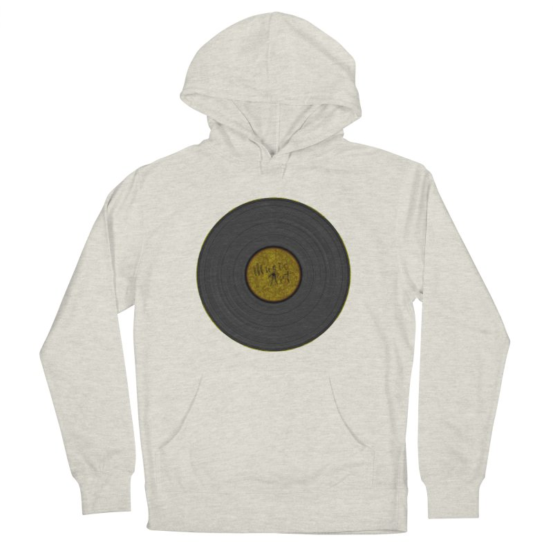 Vinyl Art Women's French Terry Pullover Hoody by Sinazz's Artist Shop