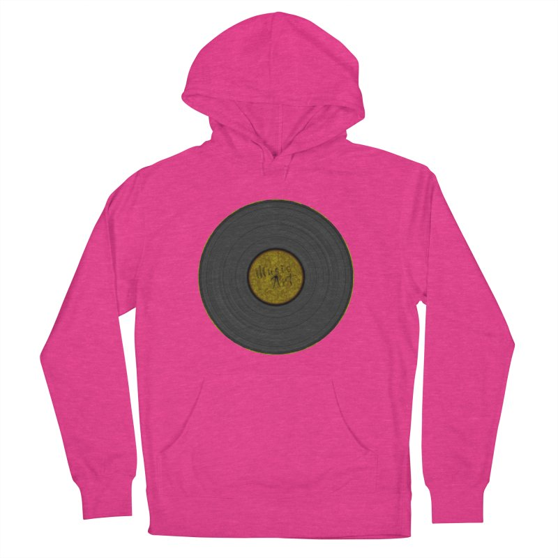 Vinyl Art Men's French Terry Pullover Hoody by Sinazz's Artist Shop