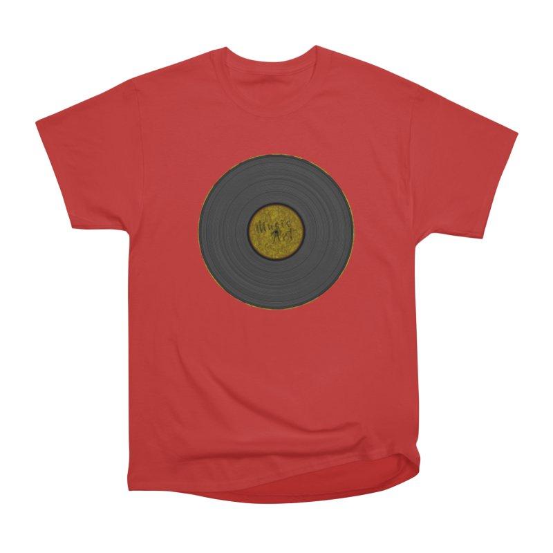 Vinyl Art Women's Heavyweight Unisex T-Shirt by Sinazz's Artist Shop