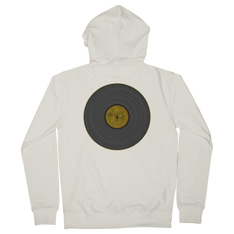 Vinyl Art Women's French Terry Zip-Up Hoody by Sinazz's Artist Shop