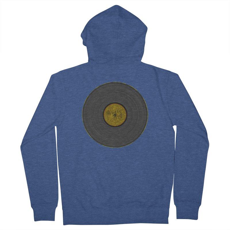 Vinyl Art Men's French Terry Zip-Up Hoody by Sinazz's Artist Shop