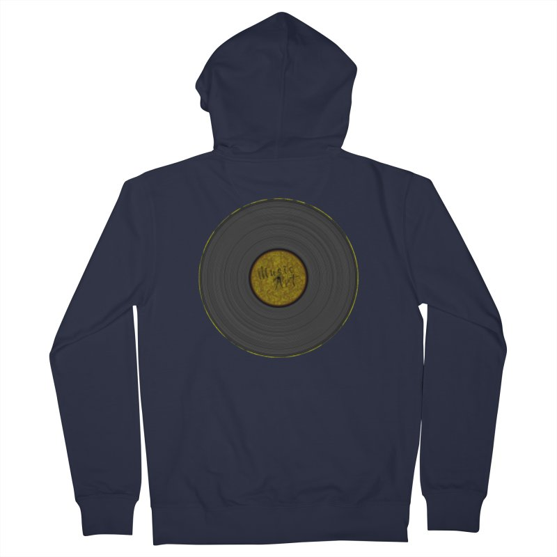 Vinyl Art Men's Zip-Up Hoody by Sinazz's Artist Shop
