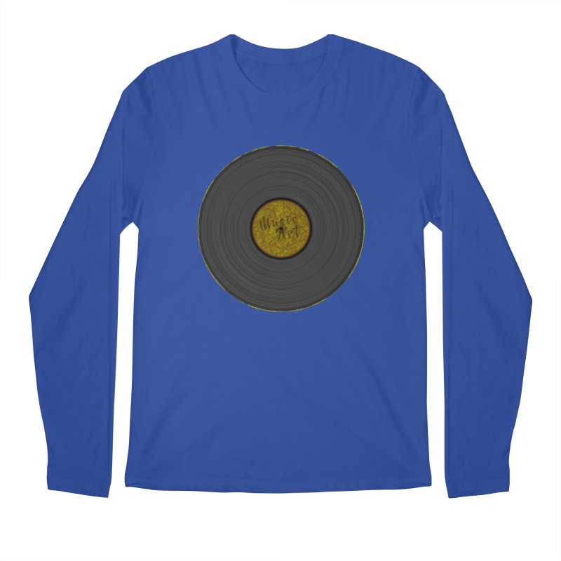 Vinyl Art Men's Regular Longsleeve T-Shirt by Sinazz's Artist Shop