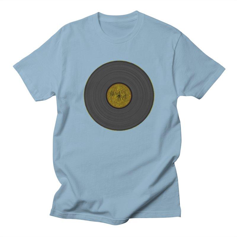 Vinyl Art Men's Regular T-Shirt by Sinazz's Artist Shop