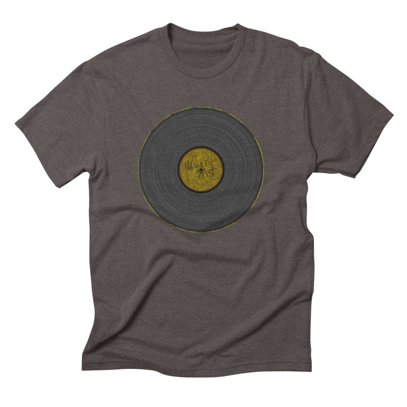 Vinyl Art Men's Triblend T-Shirt by Sinazz's Artist Shop