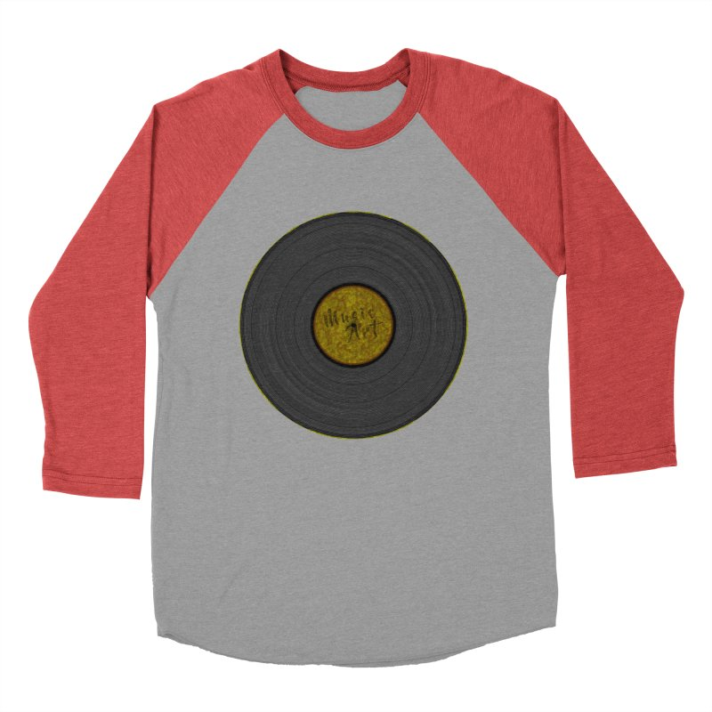 Vinyl Art Men's Baseball Triblend Longsleeve T-Shirt by Sinazz's Artist Shop