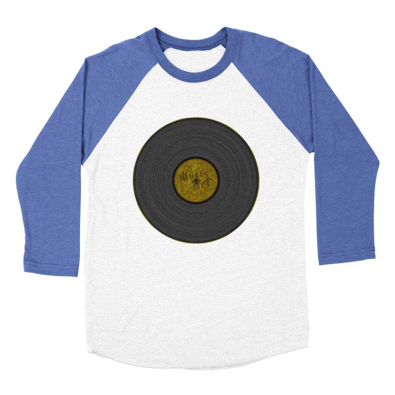 Vinyl Art Men's Baseball Triblend T-Shirt by Sinazz's Artist Shop