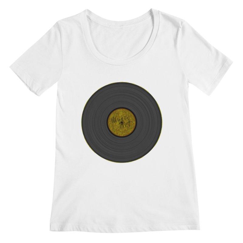 Vinyl Art Women's Regular Scoop Neck by Sinazz's Artist Shop