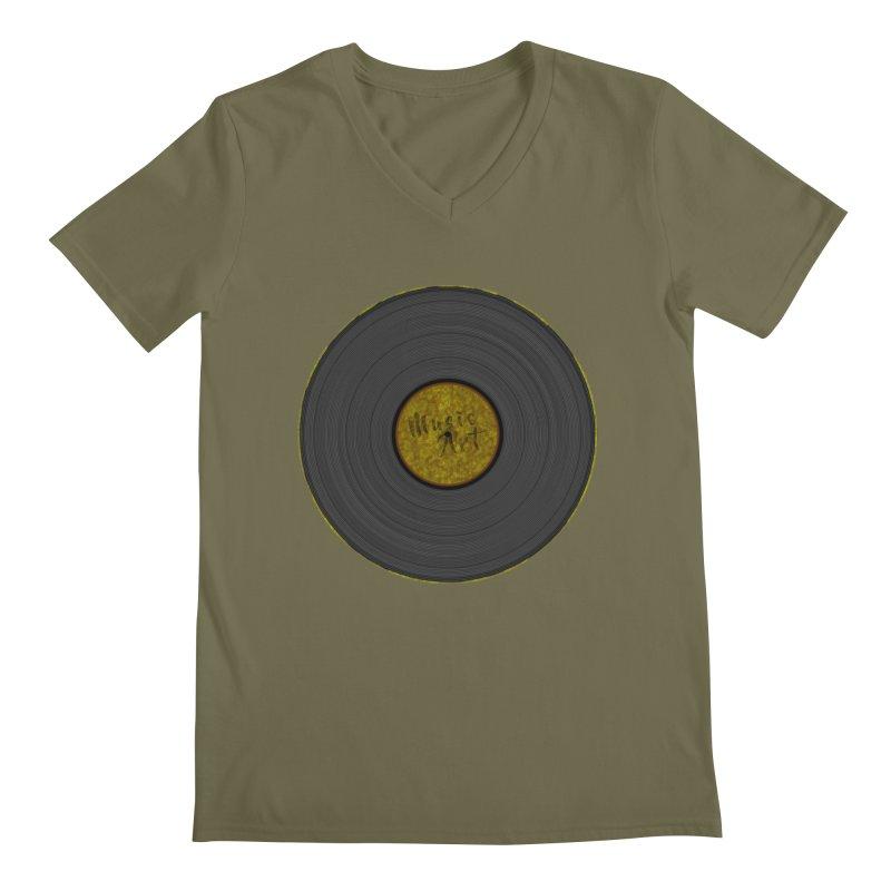Vinyl Art Men's Regular V-Neck by Sinazz's Artist Shop