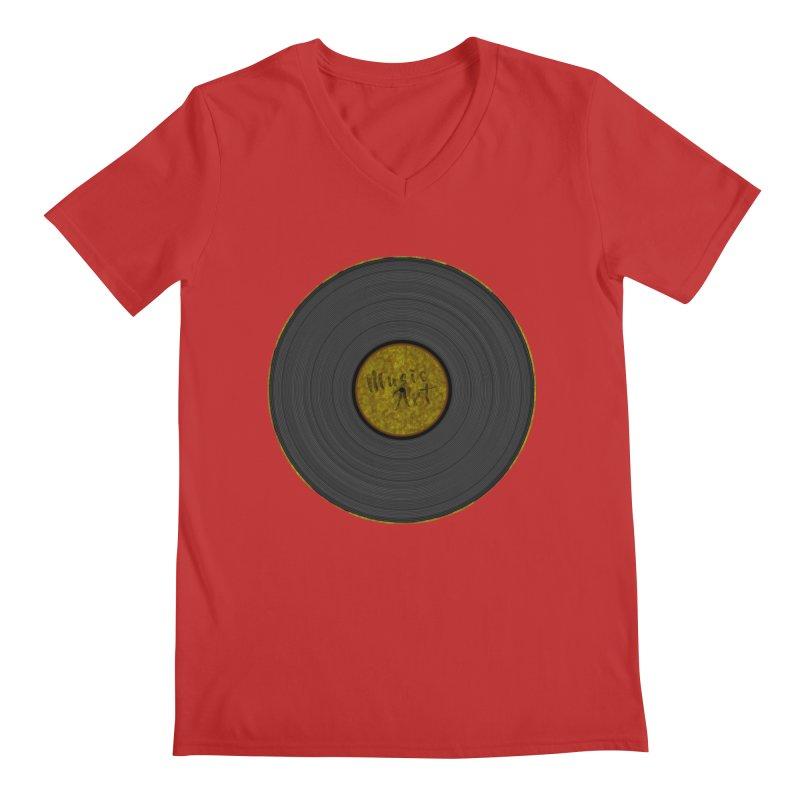 Vinyl Art Men's V-Neck by Sinazz's Artist Shop