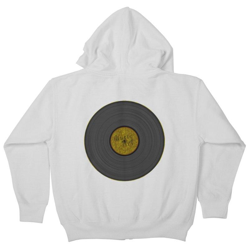 Vinyl Art Kids Zip-Up Hoody by Sinazz's Artist Shop