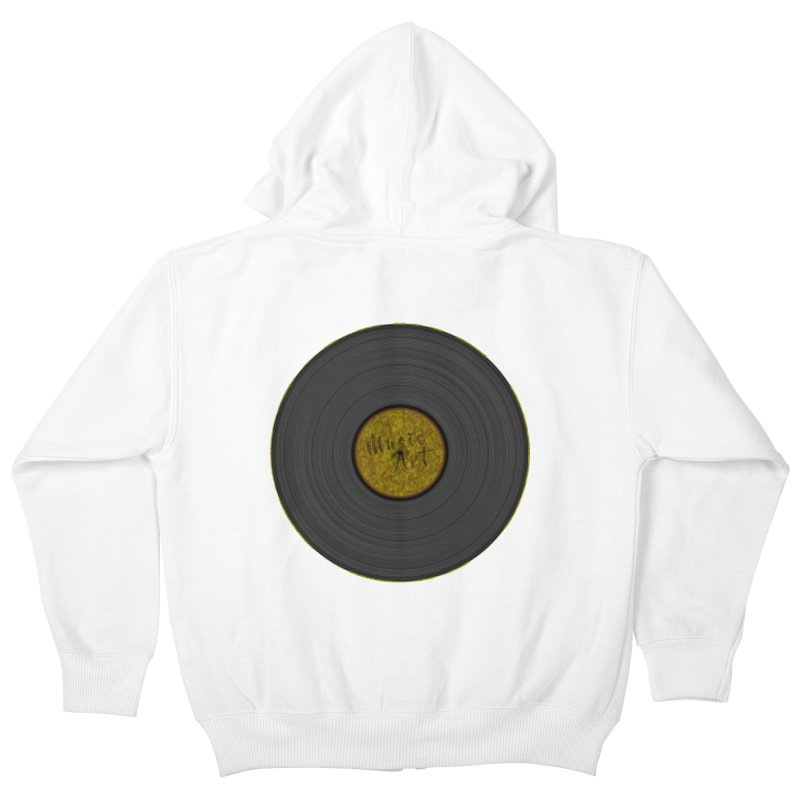 Vinyl Art Kids Zip-Up Hoody by Sinazz's Artist Shop