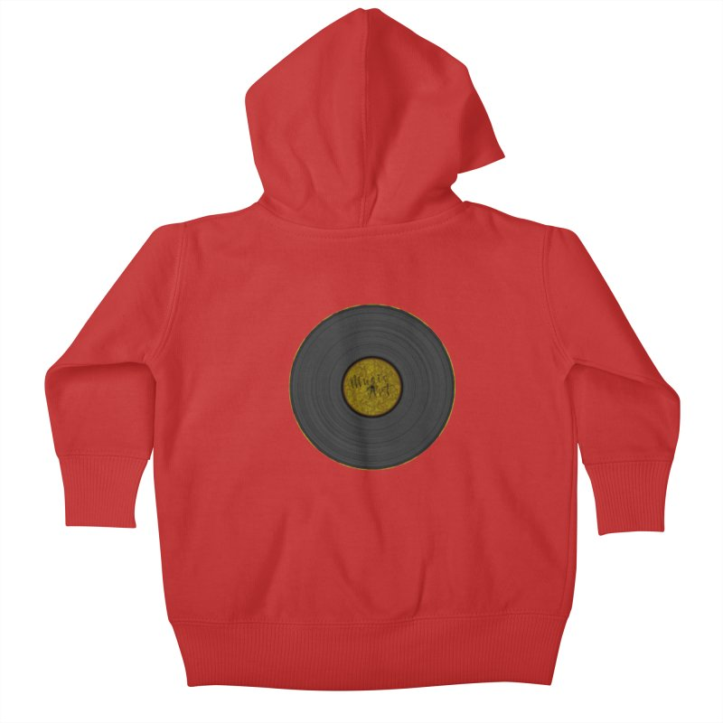 Vinyl Art Kids Baby Zip-Up Hoody by Sinazz's Artist Shop