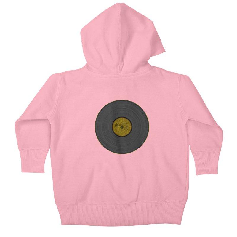 Vinyl Art Kids Baby Zip-Up Hoody by Sinazz's Artist Shop