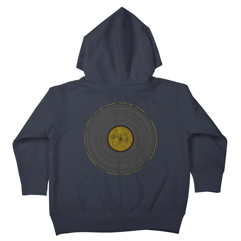 Vinyl Art Kids Toddler Zip-Up Hoody by Sinazz's Artist Shop