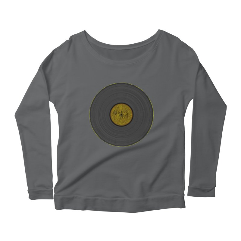 Vinyl Art Women's Scoop Neck Longsleeve T-Shirt by Sinazz's Artist Shop