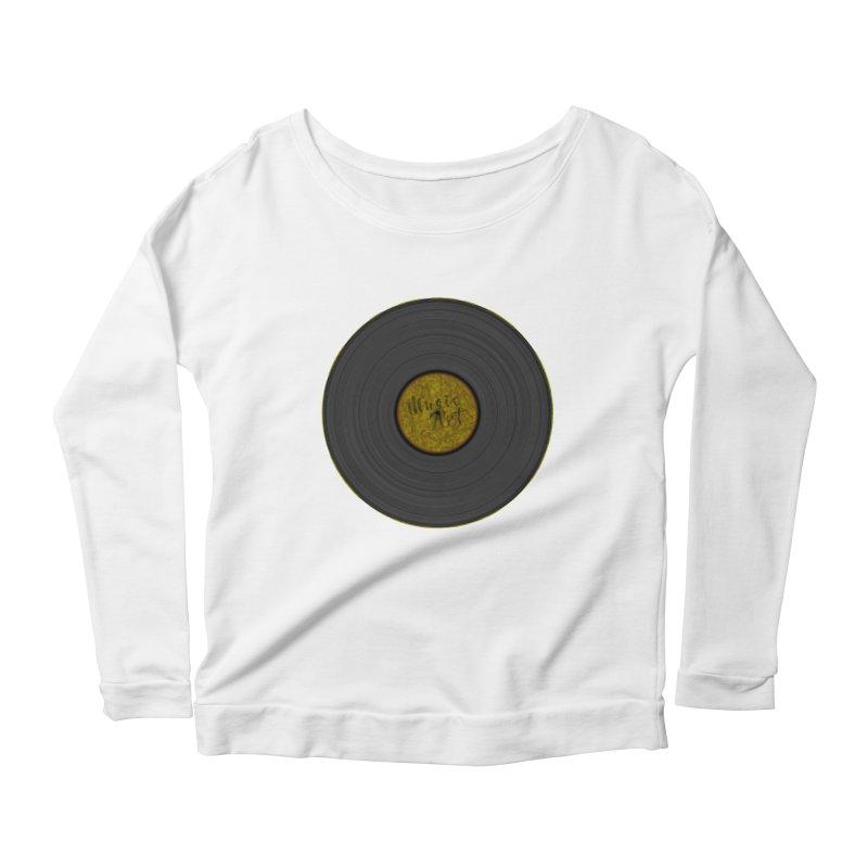 Vinyl Art Women's Longsleeve Scoopneck  by Sinazz's Artist Shop