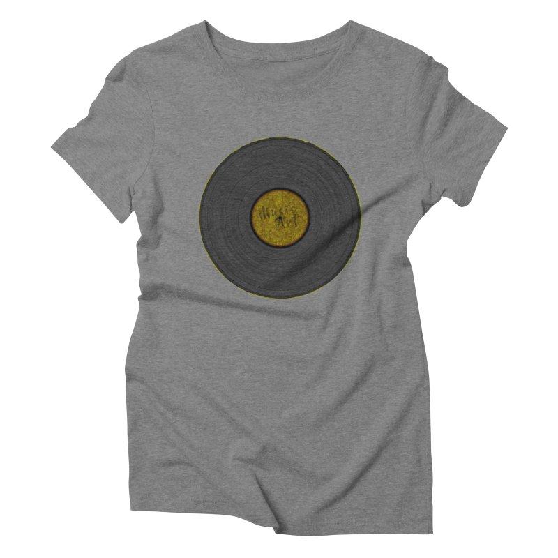 Vinyl Art Women's Triblend T-shirt by Sinazz's Artist Shop