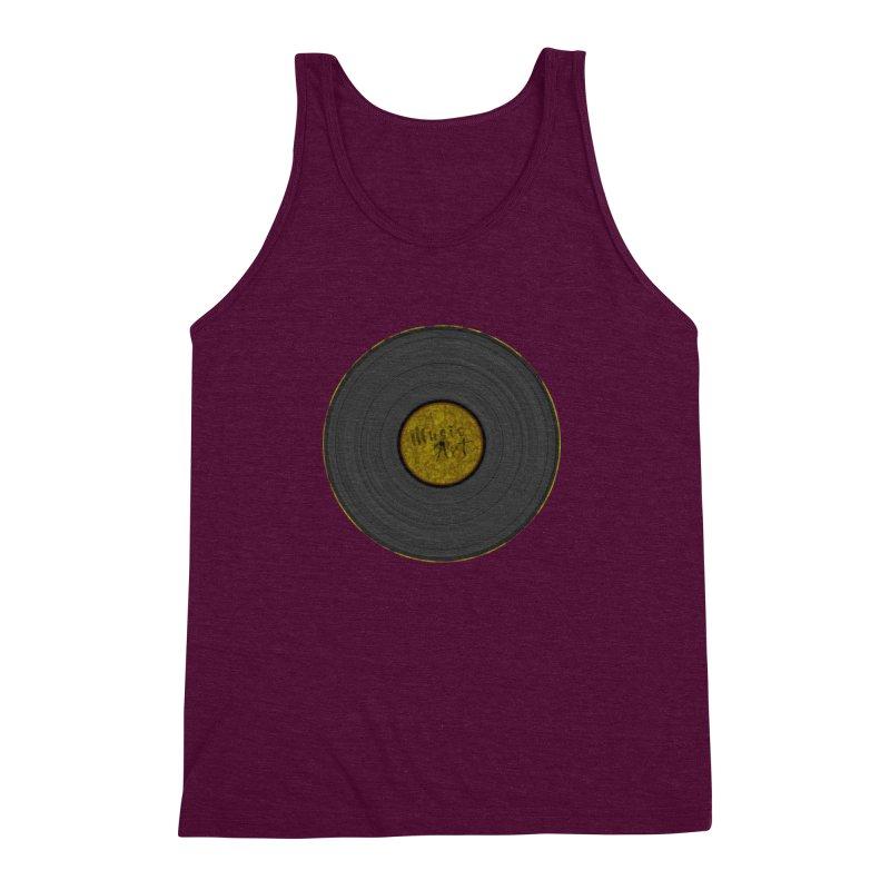 Vinyl Art Men's Triblend Tank by Sinazz's Artist Shop