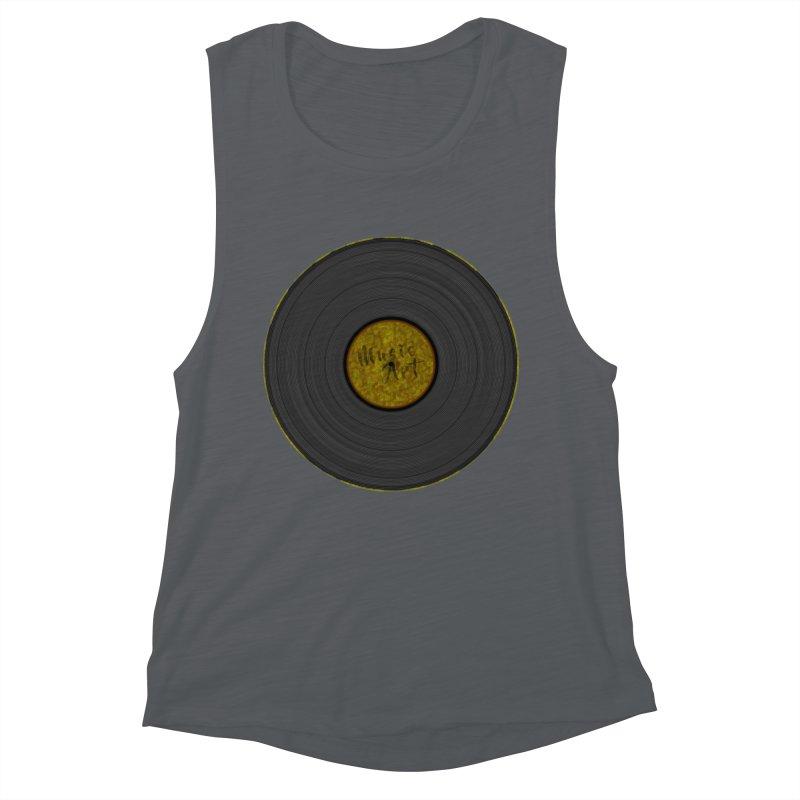 Vinyl Art Women's Muscle Tank by Sinazz's Artist Shop