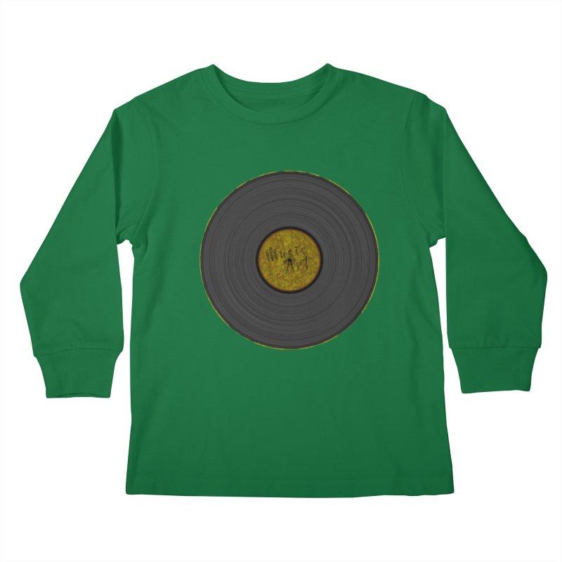 Vinyl Art Kids Longsleeve T-Shirt by Sinazz's Artist Shop