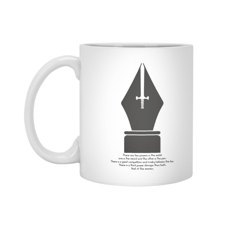 PEN AND SWORD Accessories Standard Mug by Sinazz's Artist Shop