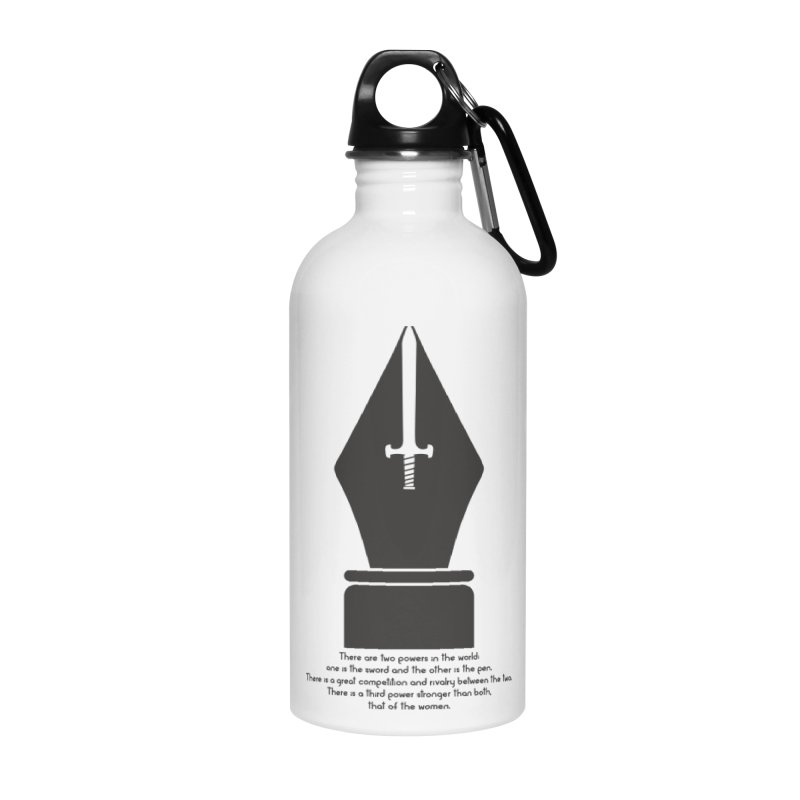 PEN AND SWORD Accessories Water Bottle by Sinazz's Artist Shop