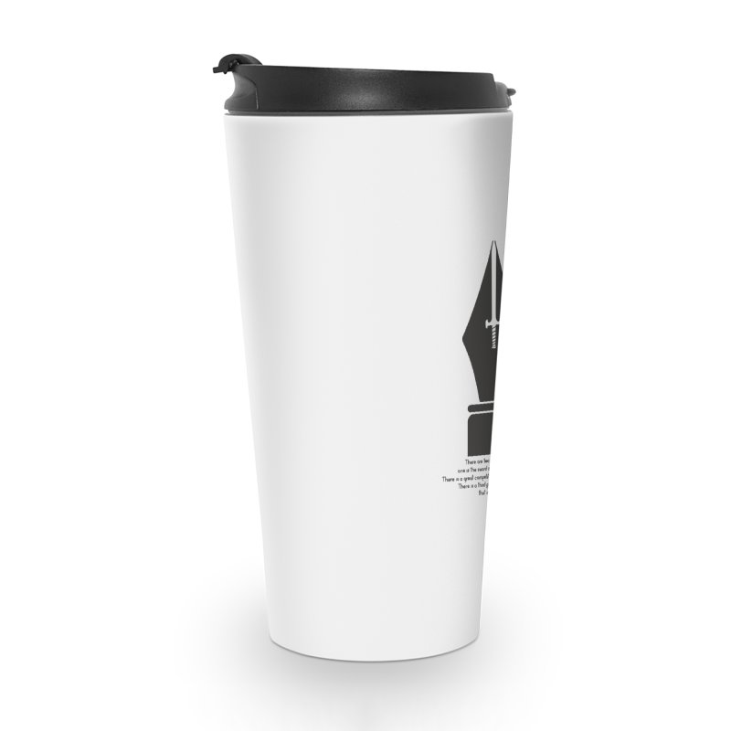 PEN AND SWORD Accessories Travel Mug by Sinazz's Artist Shop