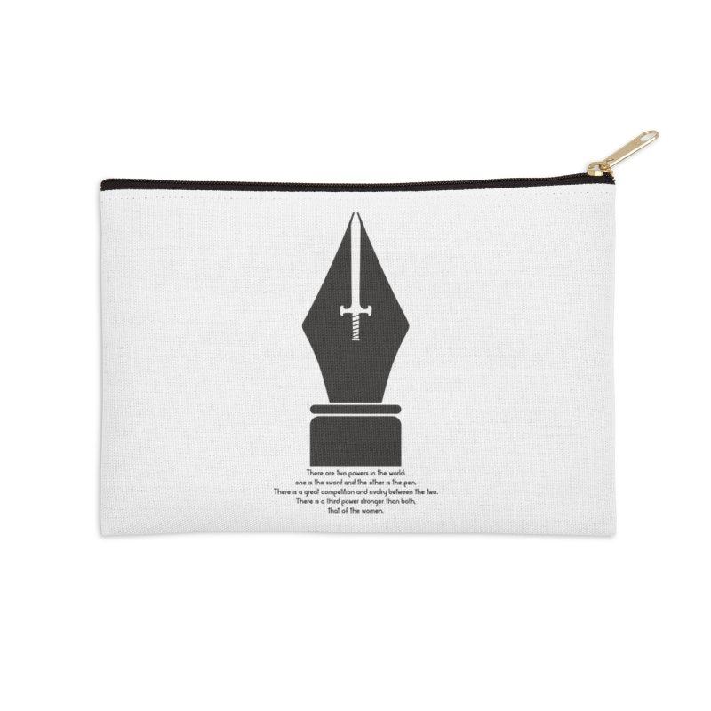 PEN AND SWORD Accessories Zip Pouch by Sinazz's Artist Shop