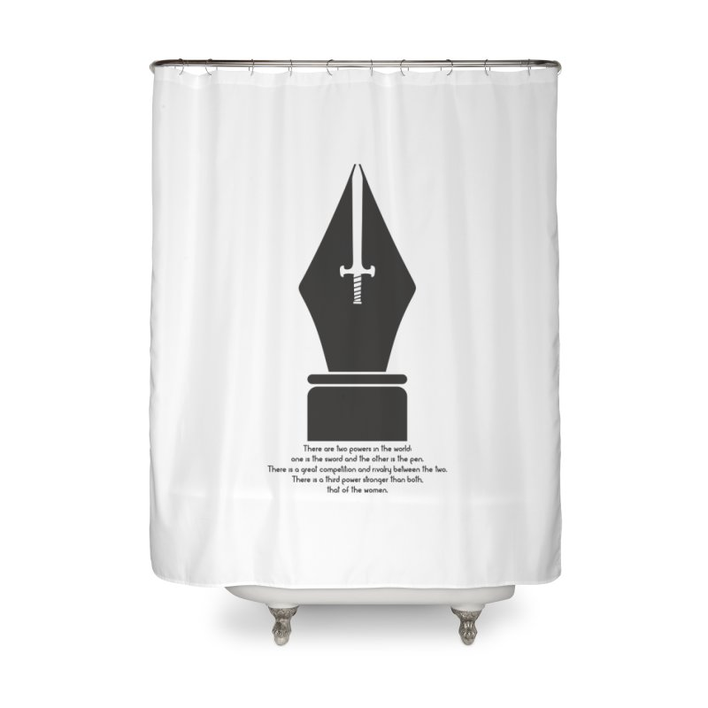 PEN AND SWORD Home Shower Curtain by Sinazz's Artist Shop