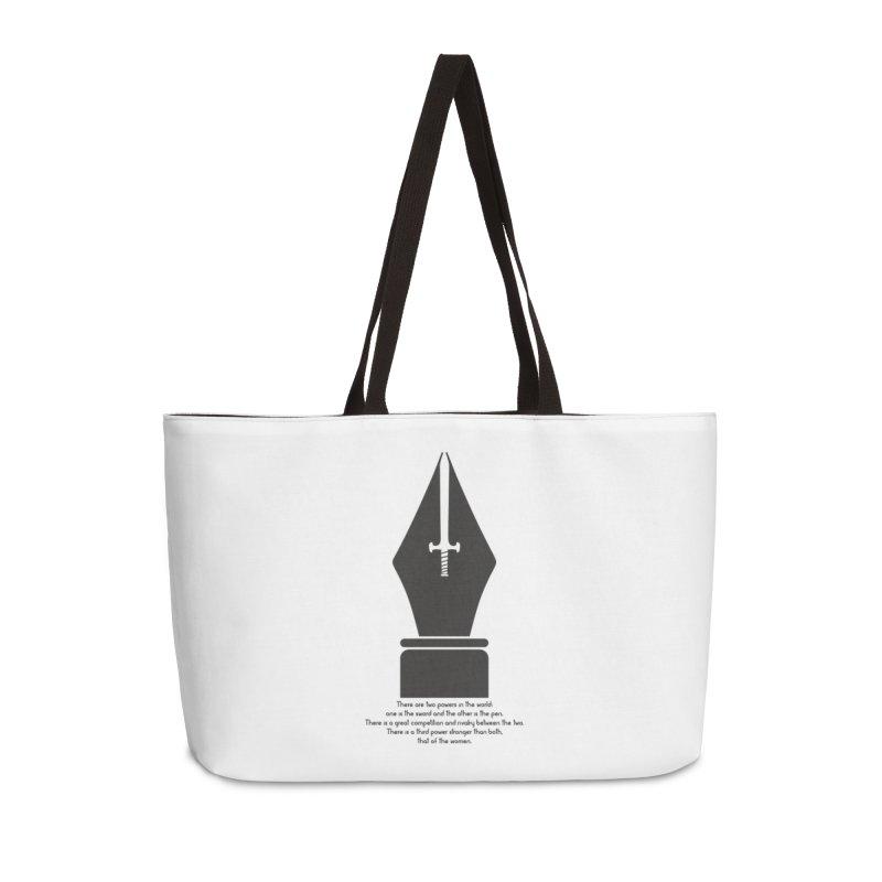 PEN AND SWORD Accessories Weekender Bag Bag by Sinazz's Artist Shop