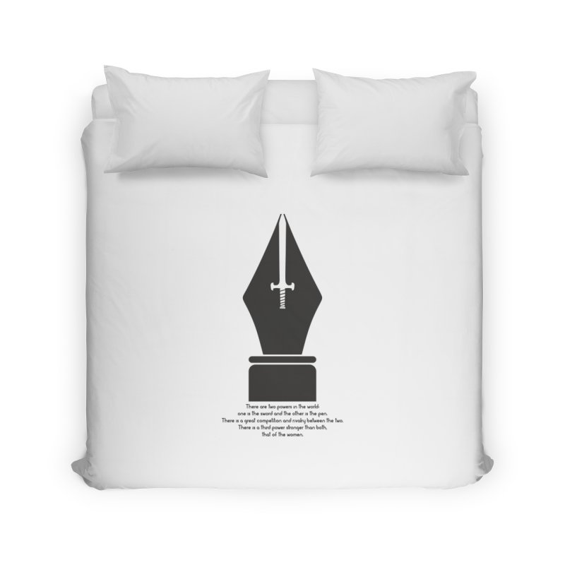 PEN AND SWORD Home Duvet by Sinazz's Artist Shop