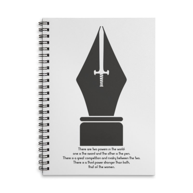 PEN AND SWORD Accessories Lined Spiral Notebook by Sinazz's Artist Shop