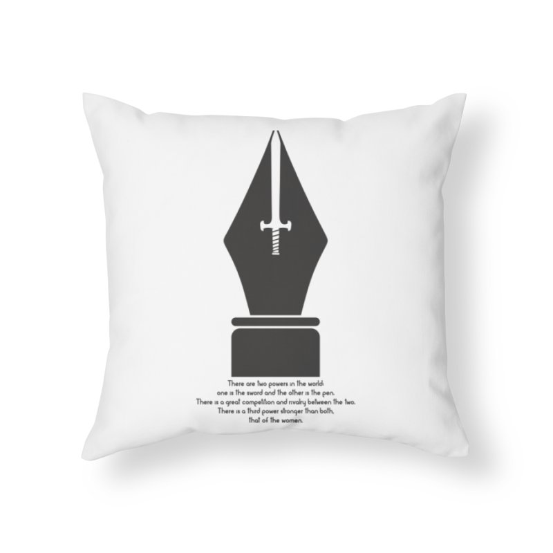 PEN AND SWORD Home Throw Pillow by Sinazz's Artist Shop