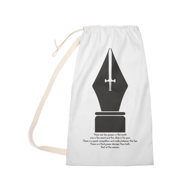 PEN AND SWORD Accessories Laundry Bag Bag by Sinazz's Artist Shop