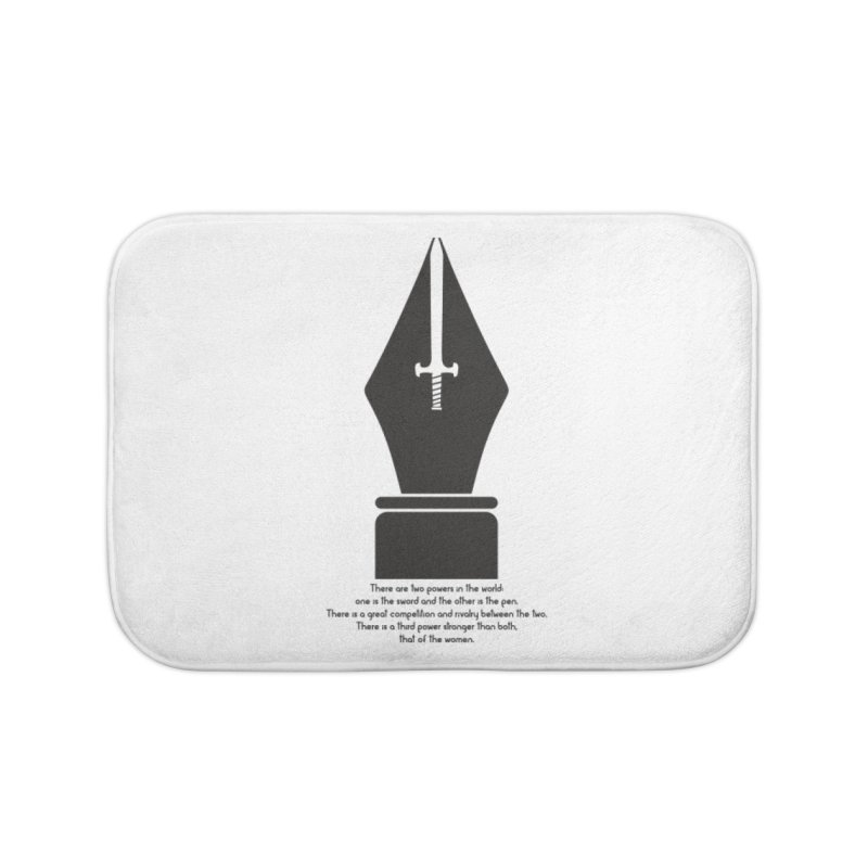 PEN AND SWORD Home Bath Mat by Sinazz's Artist Shop