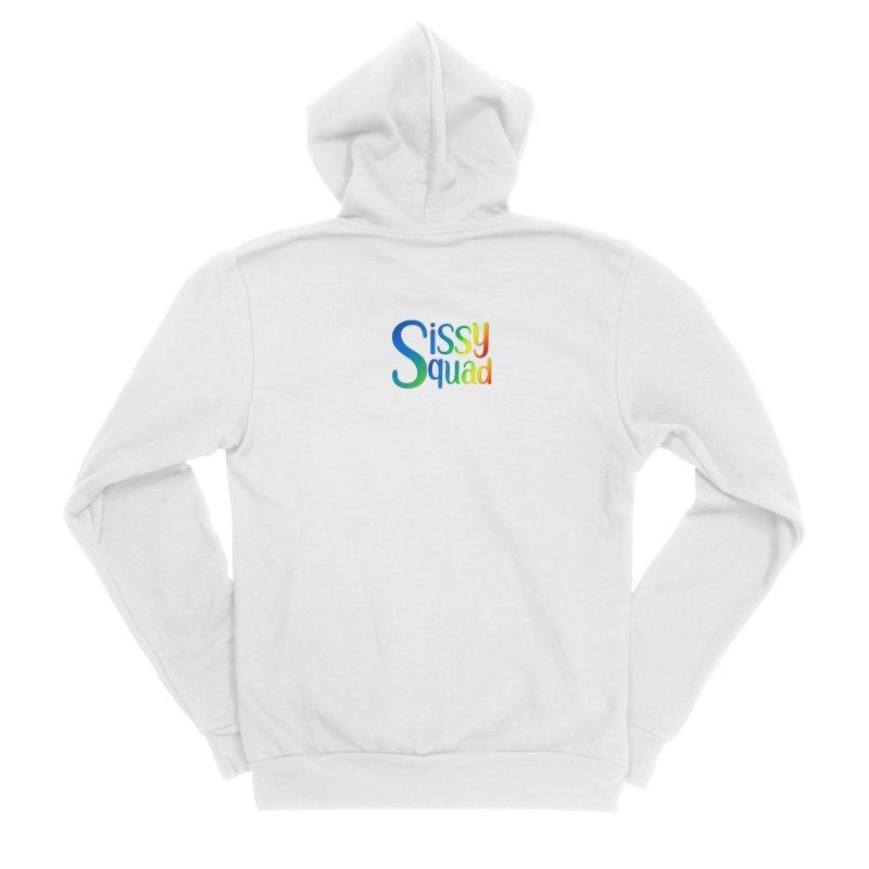 Sissy Squad RAINBOW TEXT Men's Sponge Fleece Zip-Up Hoody by Sissy Store: 90 Day Gays Swag