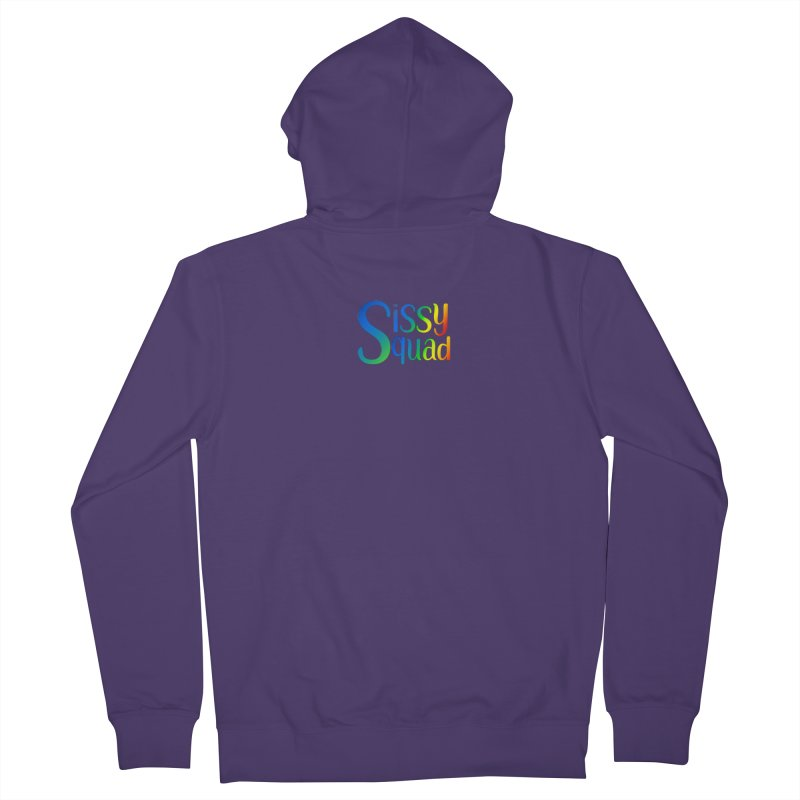 Sissy Squad RAINBOW TEXT Women's Zip-Up Hoody by Sissy Store: 90 Day Gays Swag