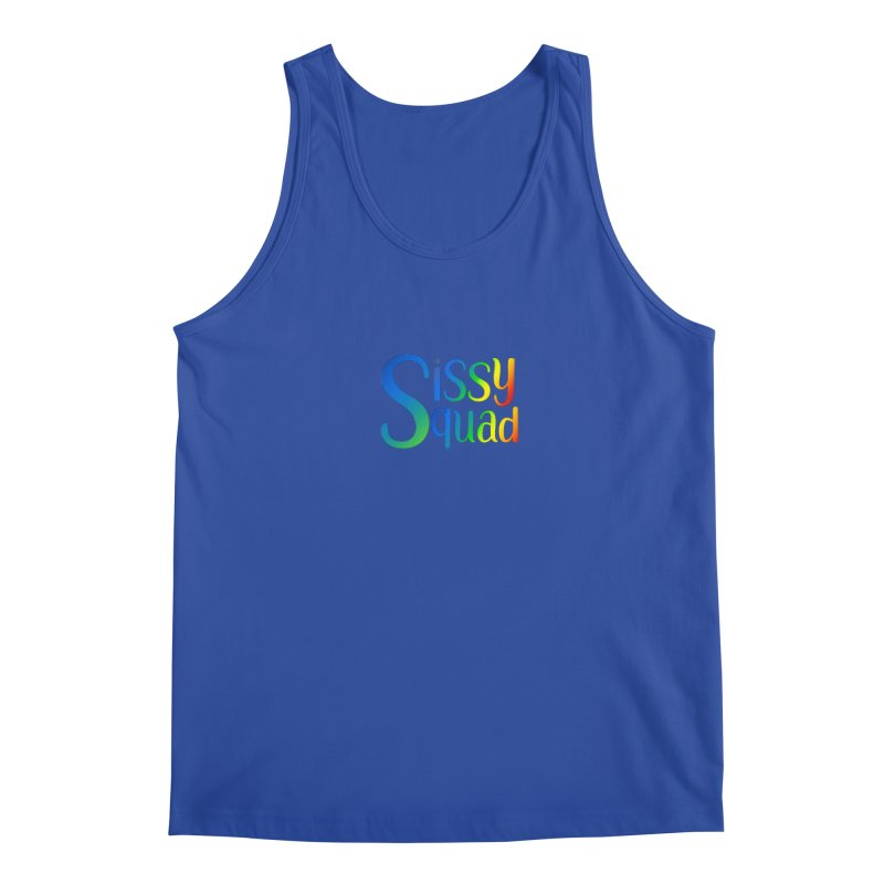 Sissy Squad RAINBOW TEXT Men's Tank by Sissy Store: 90 Day Gays Swag