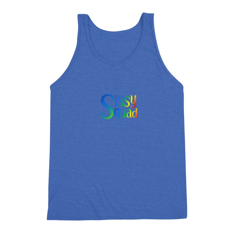 Sissy Squad RAINBOW TEXT Men's Triblend Tank by Sissy Store: 90 Day Gays Swag