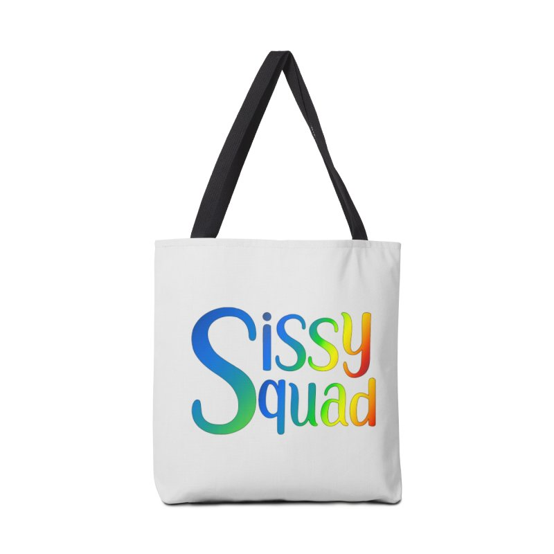 Sissy Squad RAINBOW TEXT Accessories Tote Bag Bag by Sissy Store: 90 Day Gays Swag