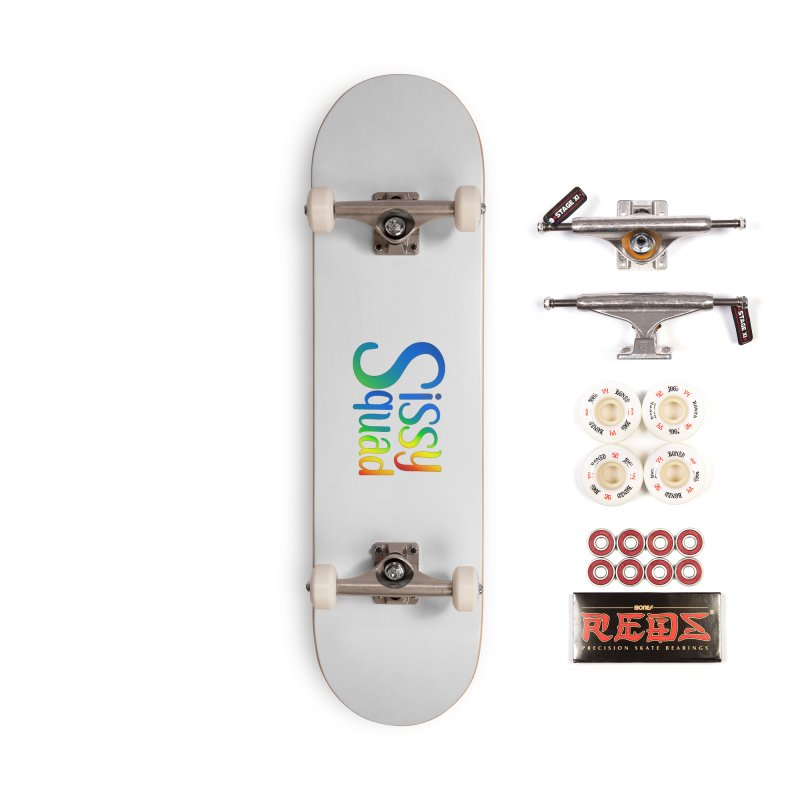 Sissy Squad RAINBOW TEXT Accessories Complete - Pro Skateboard by Sissy Store: 90 Day Gays Swag