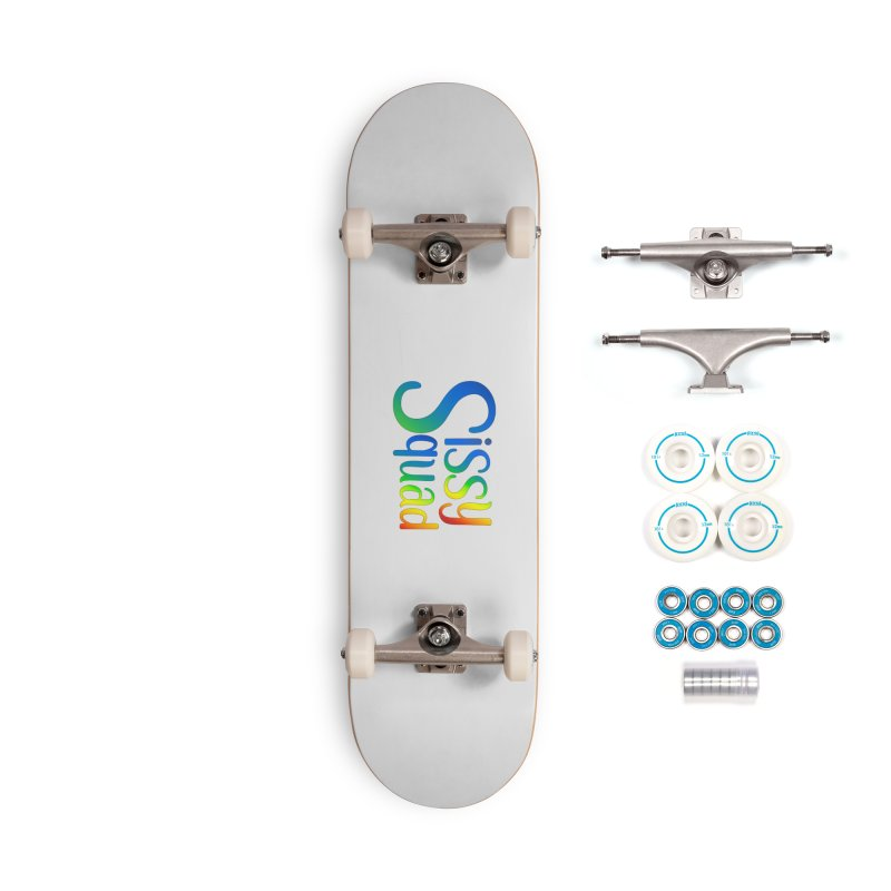 Sissy Squad RAINBOW TEXT Accessories Complete - Basic Skateboard by Sissy Store: 90 Day Gays Swag