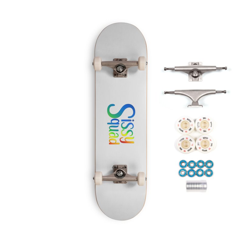 Sissy Squad RAINBOW TEXT Accessories Complete - Premium Skateboard by Sissy Store: 90 Day Gays Swag