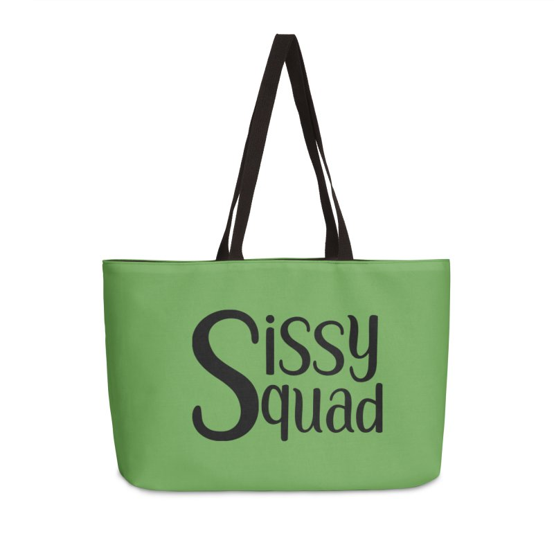 Sissy Squad BLACK LETTERS-NOT FOR DARK SHIRTS! Accessories Bag by Sissy Store: 90 Day Gays Swag